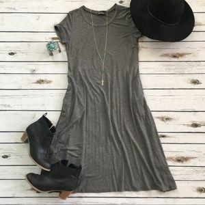 NWT Charcoal Grey T Shirt Dress Short Sleeve